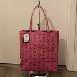 MCM Tote NS Shopper Pink Medium